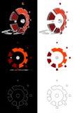 Mechanische 3D embleemevolutie Stock Illustratie
