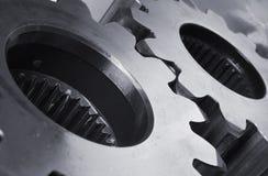 Mechanische detais der Zahnräder Stockbilder