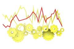 Mechanische economie in geel Stock Foto