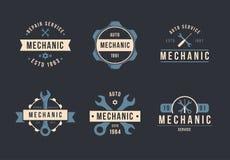 Mechanische embleemreeks Stock Afbeelding