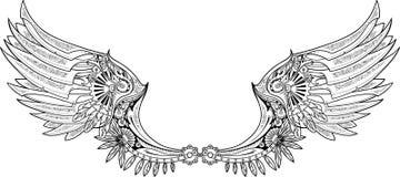 Mechanische Flügel hergestellt in steampunk Art Lizenzfreie Stockfotos