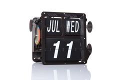 Mechanische geïsoleerde kalender retro datum Royalty-vrije Stock Afbeeldingen