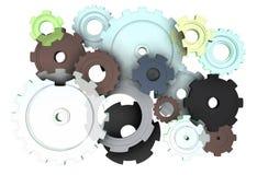 Mechanische gedeelten in beweging Stock Afbeelding
