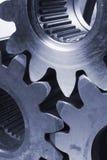 Mechanische Idee im Blau Lizenzfreies Stockbild