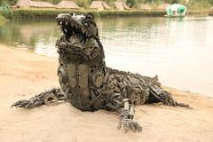 Mechanische krokodil royalty-vrije stock foto's