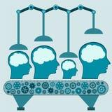 Mechanische Maschine behandelt das menschliche Gehirn vektor abbildung