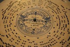 Mechanische Musikpapierscheibe der Weinlese Lizenzfreies Stockfoto