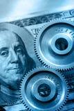 Mechanische pallen en dollar Stock Fotografie