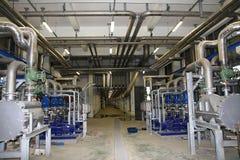 Mechanische pompinstallatie stock afbeeldingen