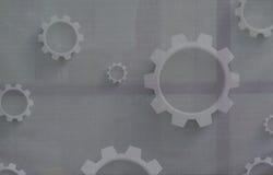 Mechanische Radertjes op Canvas stock foto