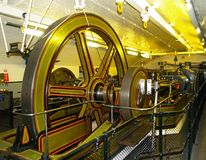 Mechanische ruimte voor de torenbrug in Londen Stock Afbeeldingen