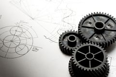 Mechanische Schaltklinken Lizenzfreies Stockfoto
