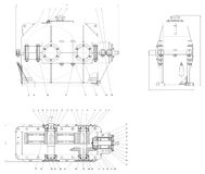 Mechanische schets Royalty-vrije Stock Afbeeldingen