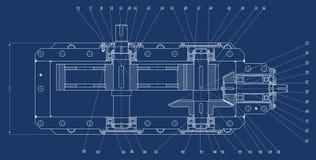 Mechanische schets stock illustratie