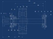 Mechanische schets royalty-vrije illustratie