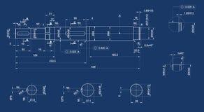 Mechanische schets Stock Fotografie
