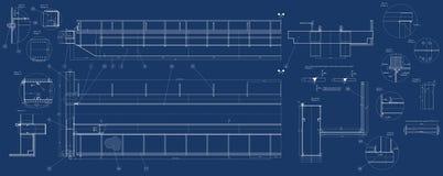 Mechanische schets Stock Afbeelding