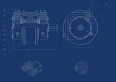 Mechanische schets Royalty-vrije Stock Foto