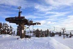 Mechanische skilift, MT. Kap Oregon. Stock Fotografie
