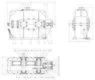 Mechanische Skizze Lizenzfreie Stockbilder