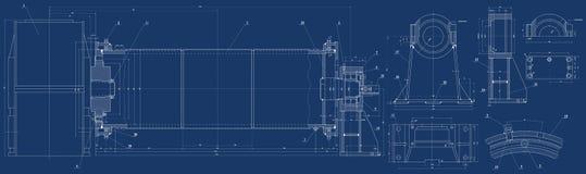 Mechanische Skizze Stockfoto