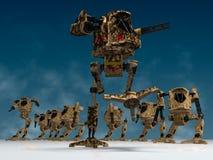 Mechanische strijders stock illustratie