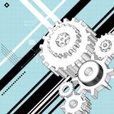 Mechanische technische tekeningen vector illustratie