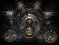 Mechanische und Steampunk-Schmutz-Hintergrundcollage lizenzfreie stockbilder
