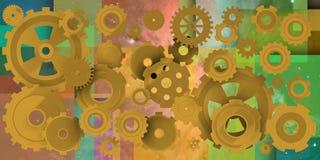 Mechanische wereld in geometrric samenstelling Royalty-vrije Stock Afbeelding