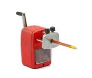 Mechanischer Bleistiftspitzer des Bleistifts Stockfotografie
