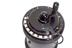 Mechanischer Rechner der Weinlese Stockfoto