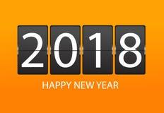 Mechanischer Zeitplan Guten Rutsch ins Neue Jahr-Grußkarte 2018 Lizenzfreies Stockfoto