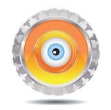 Mechanisches Auge lizenzfreie abbildung