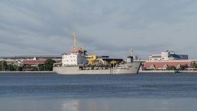 Mechanisches Bagger-Schiff Lizenzfreies Stockfoto