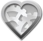 Mechanisches Herz des Stahls Lizenzfreie Stockbilder