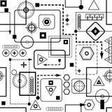 Mechanisches nahtloses Muster II Lizenzfreie Stockbilder