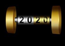 Mechanisches Zählwerk 2020 stock abbildung