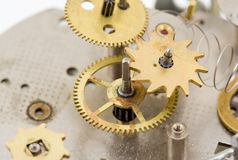 Mechanism. Several gears of the mechanical clock Stock Images