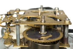 The mechanism of the alarm. The gear mechanism of the alarm Royalty Free Stock Photo