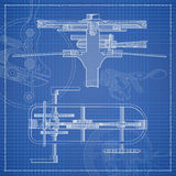 Mechanism blueprint stylized draft. Royalty Free Stock Photos