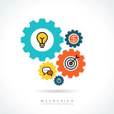 Mechanism Business concept gear icons illustration Royalty Free Stock Photo