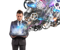 Mechanism of the business web Stock Photography