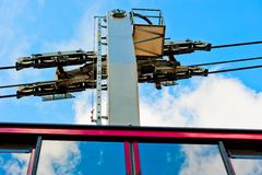 The mechanism of the cable car Stock Image