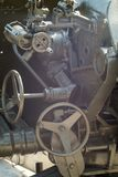 Mechanism of the cannon guns. The mechanism of the cannon guns Royalty Free Stock Photography