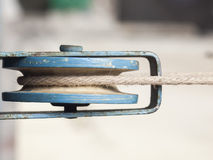 The mechanism for clothesline. Royalty Free Stock Image