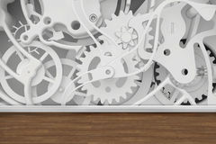 Mechanism of cogwheels in the room Stock Photos