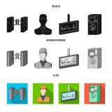 Mechanism,electric ,transport, and other web icon in black, flat, monochrome style. Pass, public, transportation, icons vector illustration