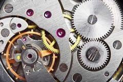 Mechanism gear. Of vintage clock stock photo