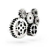 The mechanism. Gear 3d. Isolated on white background Royalty Free Stock Photography