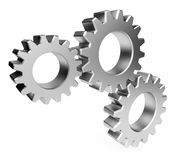 The mechanism. Gear 3d. Isolated. On white background Royalty Free Stock Images